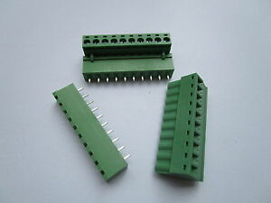 50 pcs Close Straight 10pin 5.08mm Screw Terminal Block Connector Pluggbale Type