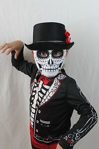 Day-of-the-Dead-Dia-De-Los-Muertos-Skeleton-Coco-Costume-Zombie-Kids-Skull-NEW