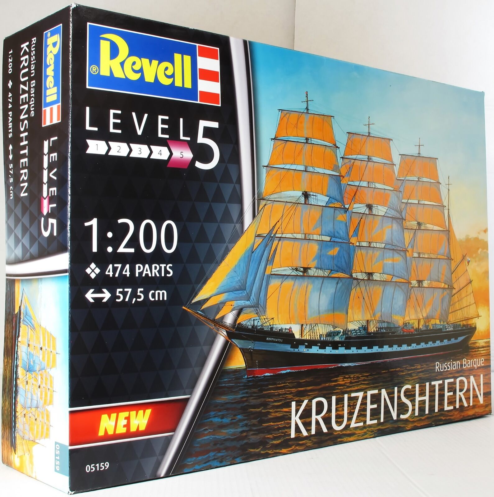 Revell 1 200 05159 Russian Barque 'Kruzenshtern' Model Ship Kit