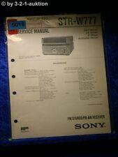 Sony Service Manual STR W777 Receiver  (#5018)