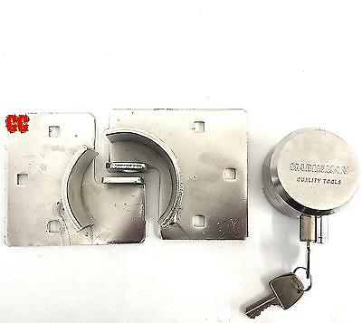 Round Padlock Hasp Heavy Duty Door Lock Security Van Door