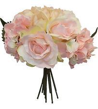 Pink Blush ~ ROSES HYDRANGEA TULIPS Bridal Bouquet Silk Wedding Flowers Decor