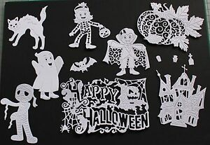 Tattered Lace Script Background Die Cuts White 5 pieces