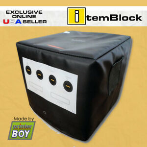 Nintendo-GameCube-GameBoy-Player-Black-Console-Dust-Cover-Exclusive-US-Seller