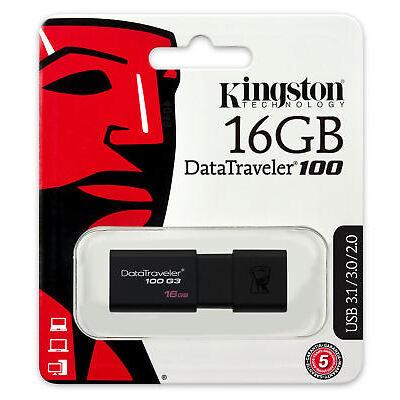 16GB 32GB 64GB - Kingston Data Traveler DT100 USB 3.0 Memory Flash Drive Lot