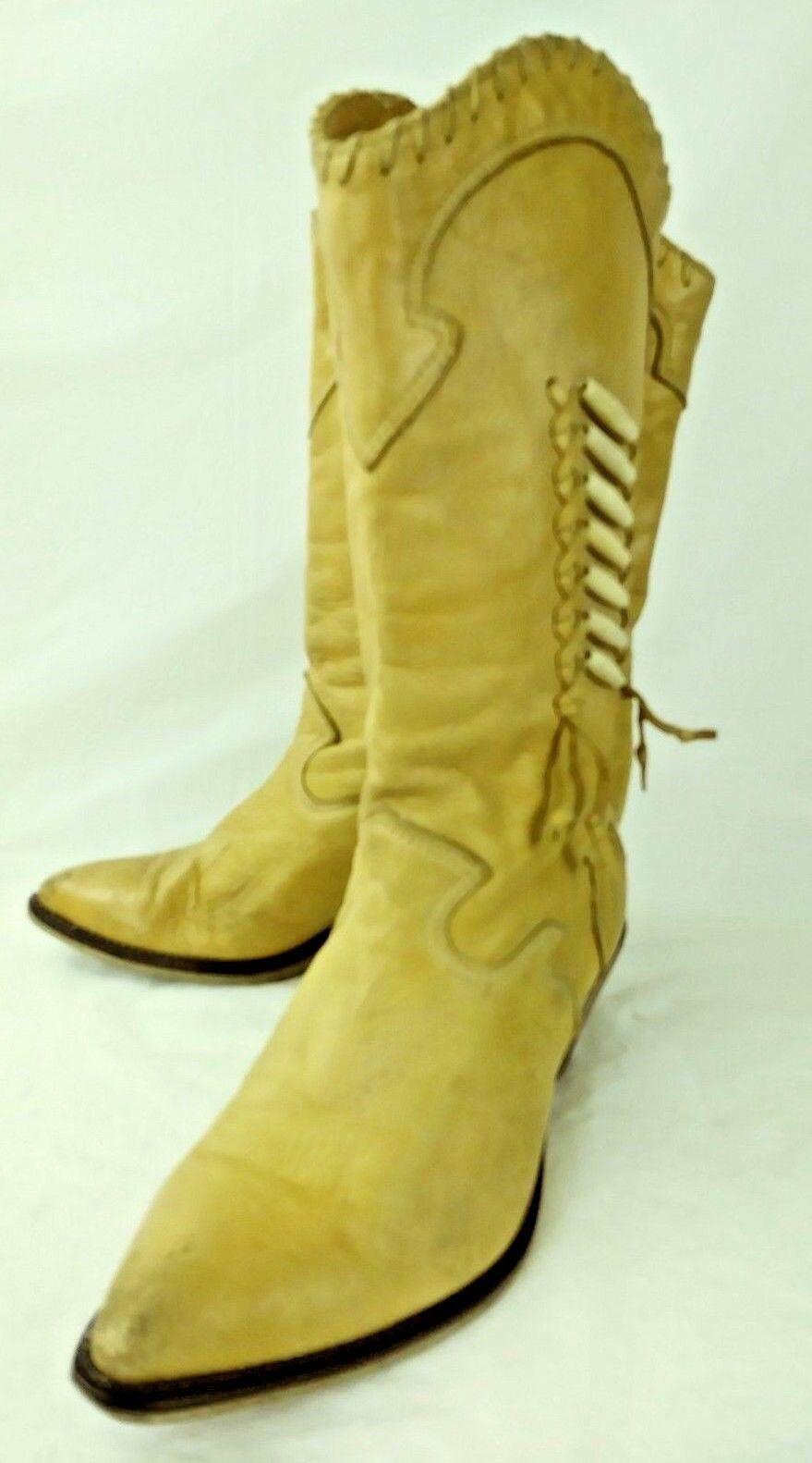 Zodiac Mujer 830059 botas De Alto Western 830059 Mujer US 6 M Bronceado Cuero tire de con cuentas 307 2d26b7