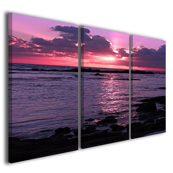 Quadri moderni tramonti paesaggi Palma de Mallorca stampe su tela canvas design