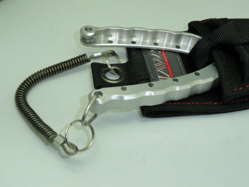 TWO Jaws Heavy Duty two pocket fishing pliers sheath with S.S wired lanyard