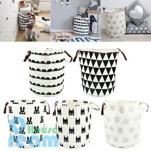 Superb Image Is Loading Foldable Kids Toy Hamper Canvas Laundry Basket Storage