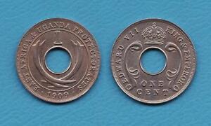 OSTAFRIKA-UGANDA-1-Cent-1909-K-N-Elefantenstosszaehne-vorzueglich-selten