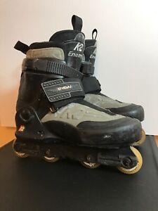 K2-Enemy-STREET-Aggressive-Inline-Roller-Skates-Men-039-s-Size-7-0-Missing-1-Insole