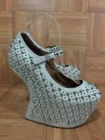 SEXY�� Jeffrey Campbell Prickly Platform Mary Jane Spike Studded Heeless Sz 6.5