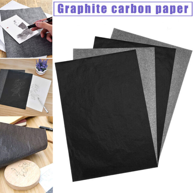 "9/"" x 13/"" 100PCS Carbon Transfer Paper Black Tracing for Wood Canvas Art"