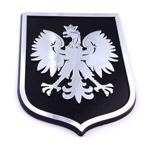 german eagle chrome emblem car badge
