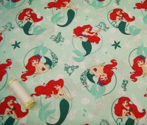 Guateado Craft La Sirenita Tela de algodón por Disney FQ la mitad o metro