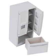 Useful Dollhouse Miniature Kitchen Furniture Wooden Refrigerator Fridge Freezer