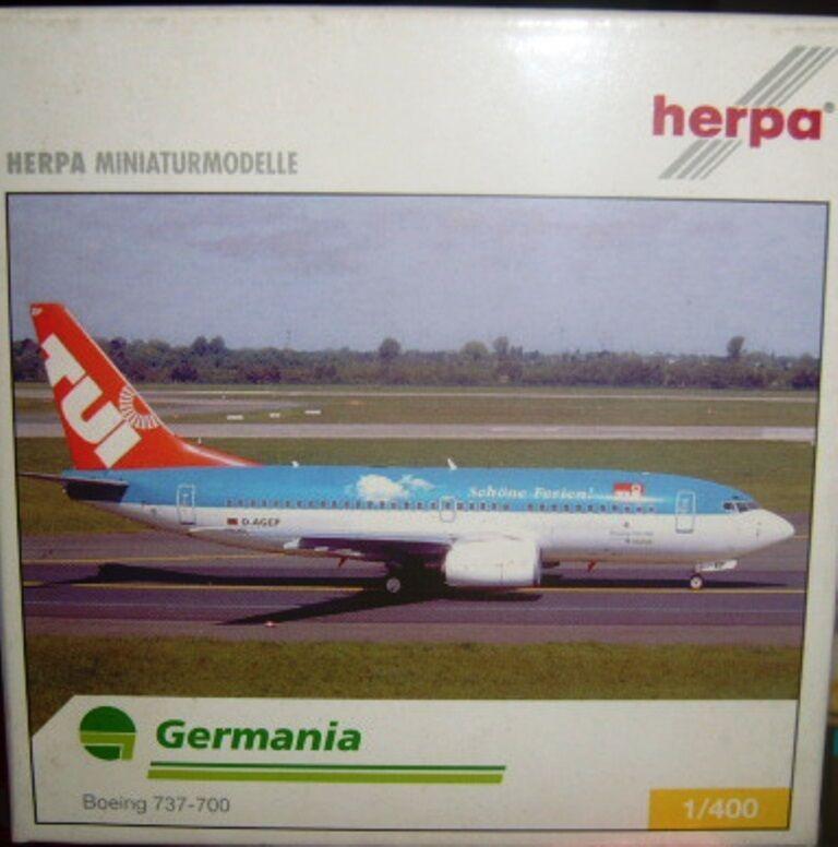 BOEING 737-700  GERMANIA  737-700  scala 1/400 HERPA (560627) 88db9b