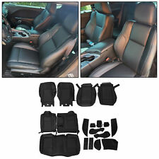 For 15 21 Dodge Challenger Sxt Rt Sport Leather Black Frontamprear Seat Covers Set