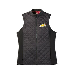 Indian Motorcycle Women Textile Quilted Vest, Black