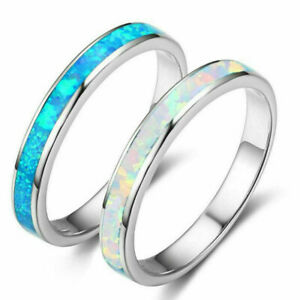 Exquisite-925-Silver-White-Blue-Fire-Opal-Ring-Women-Wedding-Engagement-Jewelry