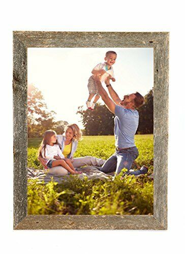 """100/% Up-cycled Reclaimed BarnwoodUSAFarmhouse Picture Frame 2/"""" inch Molding"""