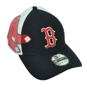 MLB New Era 39Thirty Boston Red Sox Double Mesh Flex Fit Small ... b316b73708e