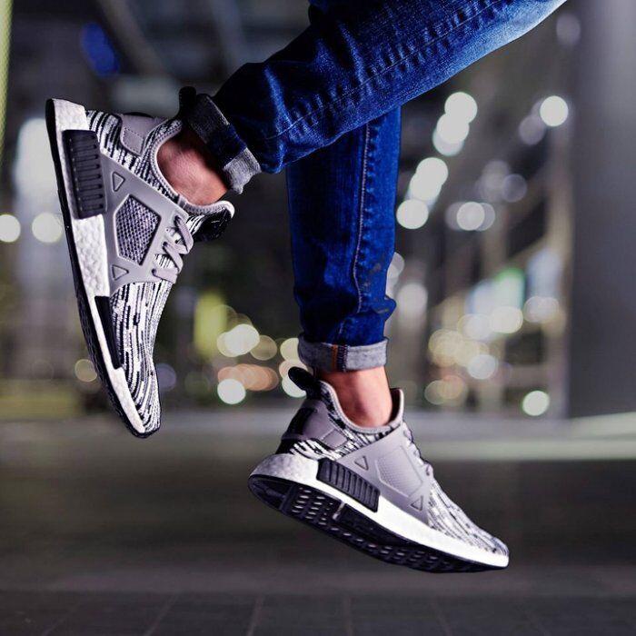 Adidas NMD XR1 size 13. Black Grey White Glitch. BY1910. primeknit ultra boost