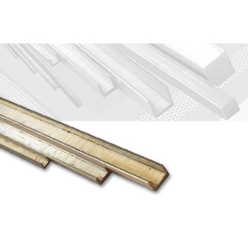 Messing U-Profil ungleichschenklig 3,0 x 1,0 mm, Länge 100 cm