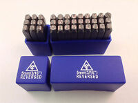 Reversed 36pc 3/16 5mm Steel Letter & Number Stamp Punch Die Set