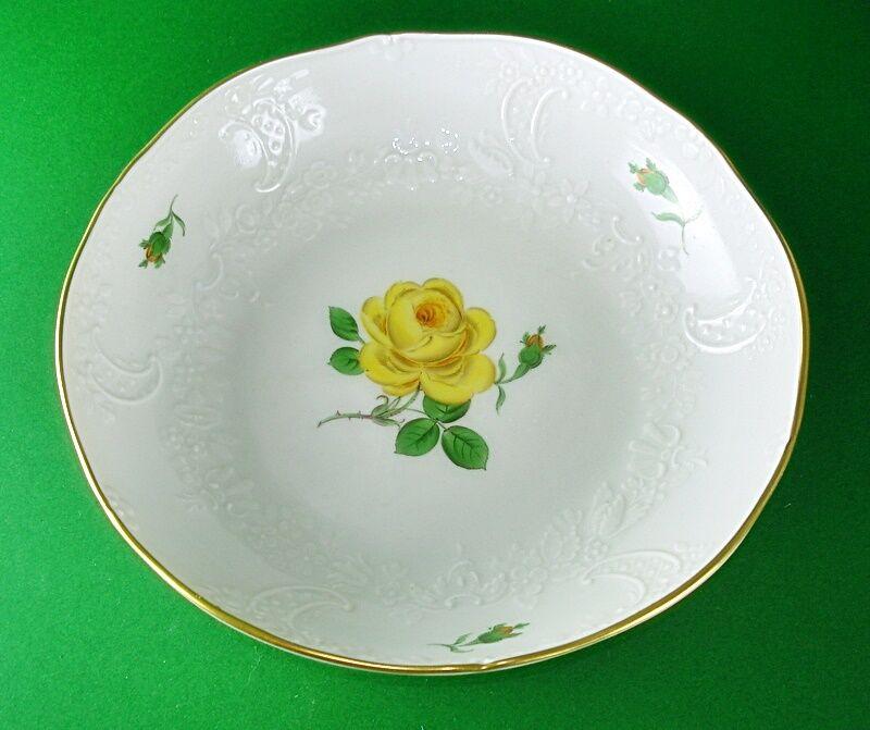 Meissen Neumarseille Neumarseille Neumarseille  Gelbe Rosa 1 Schüssel rund 22 cm   | Überlegene Qualität  c151b9