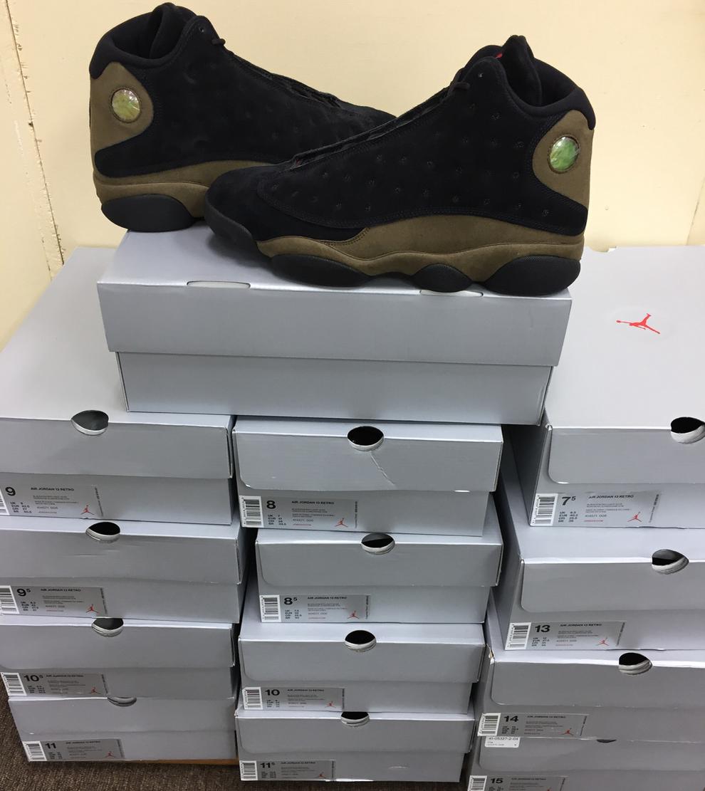 Nike Air Jordan Retro 13 XIII Olive Negro / True el Rojo Olive 414571-006 autentico el True último descuento zapatos para hombres y mujeres 008be0