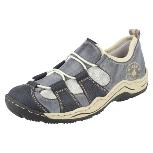 Blue Casual On Rieker Ladies Style Shoes Trainer L0582 Synthetic Slip zOBBwfqv