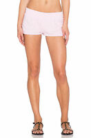 Spiritual Gangster Womens Petal Pink Cotton Retro Gym Shorts Size Large L