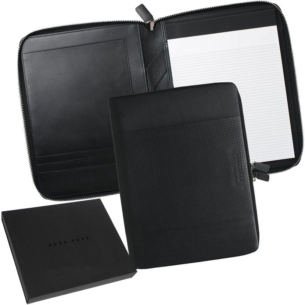 Hugo Boss A4 Zip Writing Case Leather Car Design Conference Folder