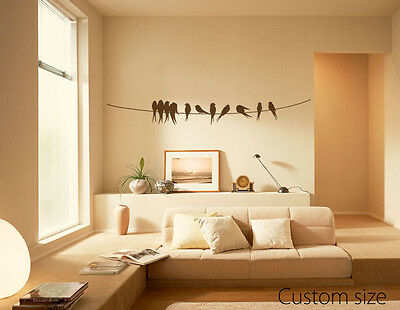 Birds On A Wire Wall Decal Living Room Bedroom Removable Vinyl Sticker Art Decor