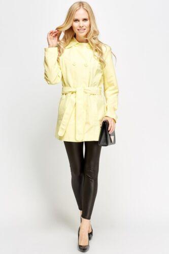 Da Donna Nuovo Pulsante MAC Cappotto Donna con cintura lunga Giacca leggera UK Venditore