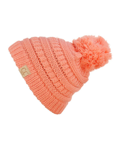 Kids CC Beanie Cute Warm and Comfy Pom Pom Knit Ski Kids Beanie Hat Brand NEW