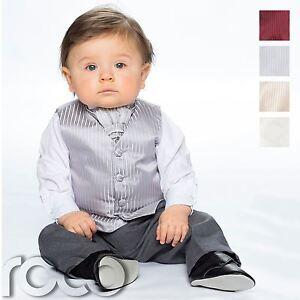 Bébé garçons gilet costume- Page Boy Suits- pantalon gris motif rayé--afficher le titre d`origine T8jGHJwT-07144055-988108785