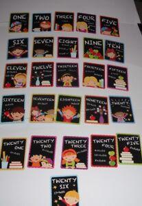 1 X Créer éducatif Apprendre Leurs Numéros, 26 Cartes-éclair En Présentation Tin-afficher Le Titre D'origine