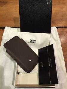 Portacellulare-Originale-Montblanc-Marrone-109172-Per-iPhone