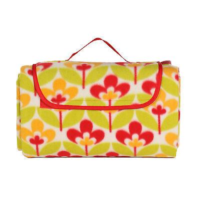 OCTAVE® Fleece Picnic Rug Great Outdoor Folding Blanket With Waterproof Backing