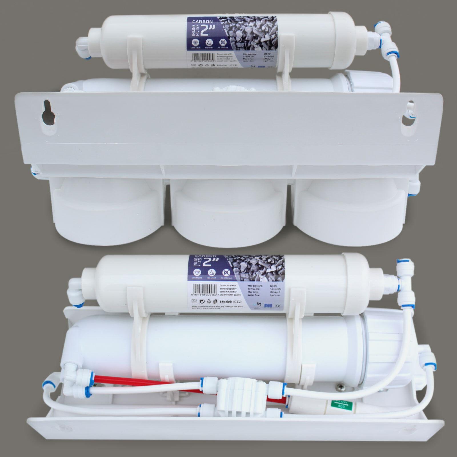 5 Stufige Umkehrosmose Osmose Osmoseanlage ACTIWATER® RO50 E00 50GPD 50GPD 50GPD NSF 3,8G 569229