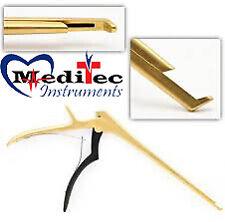 3 Pcs Set Kerrison Rongeurs 71mm 2mm3mm Up 45 Degree Gold Handle Instruments