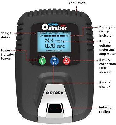 43757 Oxford Oximiser 900 Caricabatterie Carica Batteria Cr&s Rimozione Dell'Ostruzione