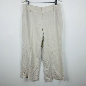 Alfani-Womens-Pants-Size-12-Beige-Linen-Rayon-Blend-Good-Condition