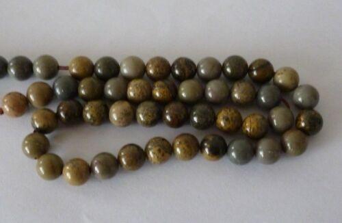 1 Strang Fancy Jaspis Perlen Kugeln 8mm zur Schmuckherstellung