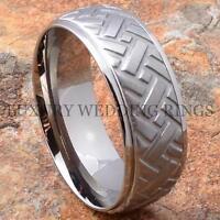 Titanium Men's Wedding Band Ring Tire Design Size 6-13
