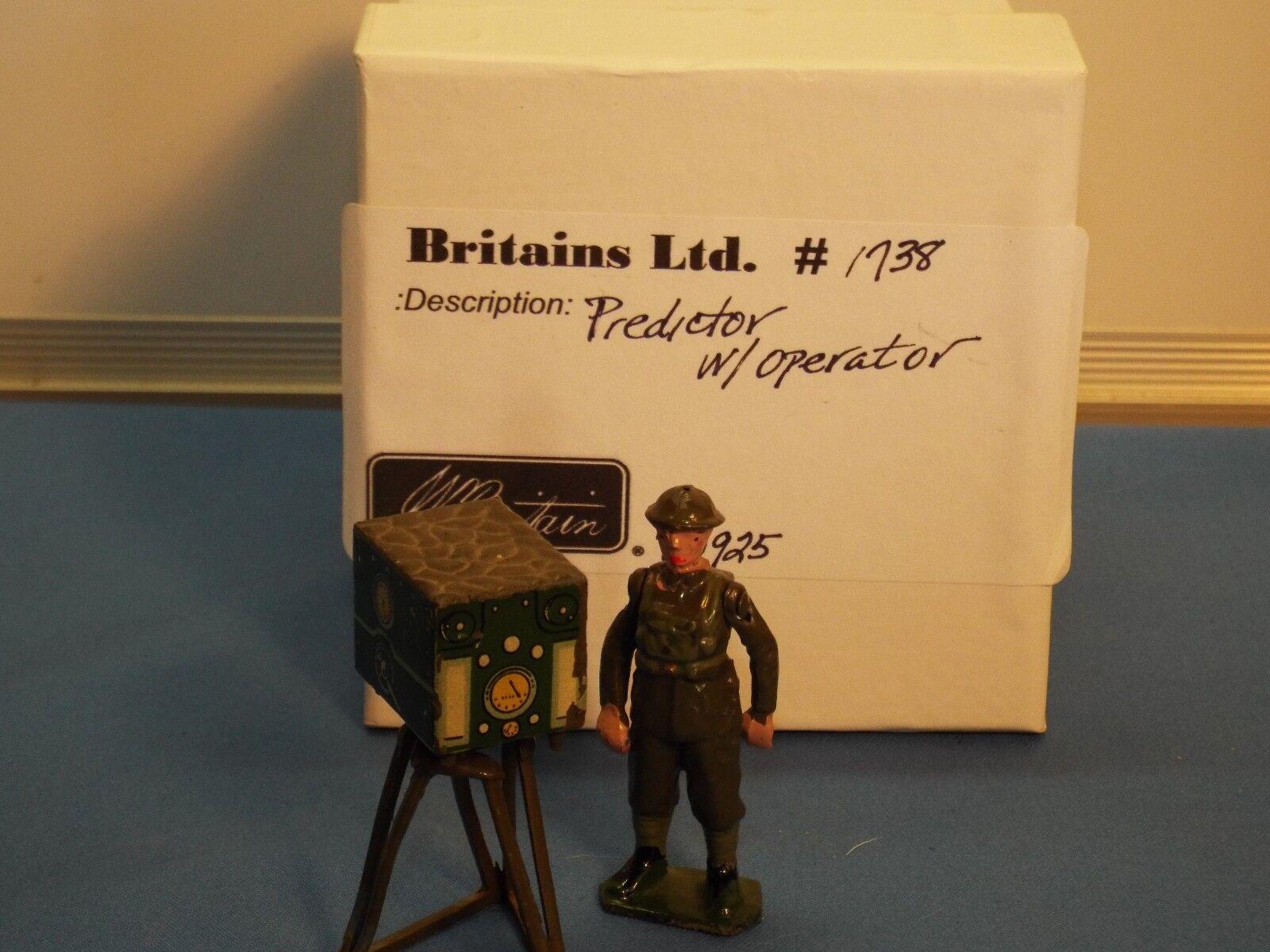Britains No1738 Predictor and army operator VNM