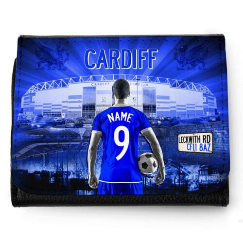 Personalised CARDIFF CITY Wallet Football Men Dad Boys Christmas Gift AF30