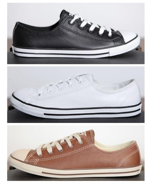 Neu Converse Damen Chucks All Star Dainty low Sneaker Leder Gr.35,5 Schwarz